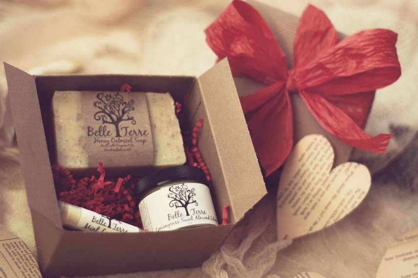 Red Gift Box - Soap, Lotion, And Lip Balm on Luulla